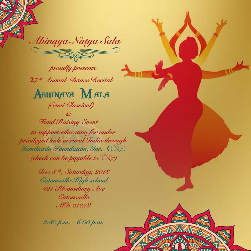 Abinaya Natya Sala's Annual Recital